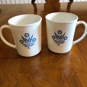 "Vintage Corning Ware ""Blue Cornflower"" Mugs"